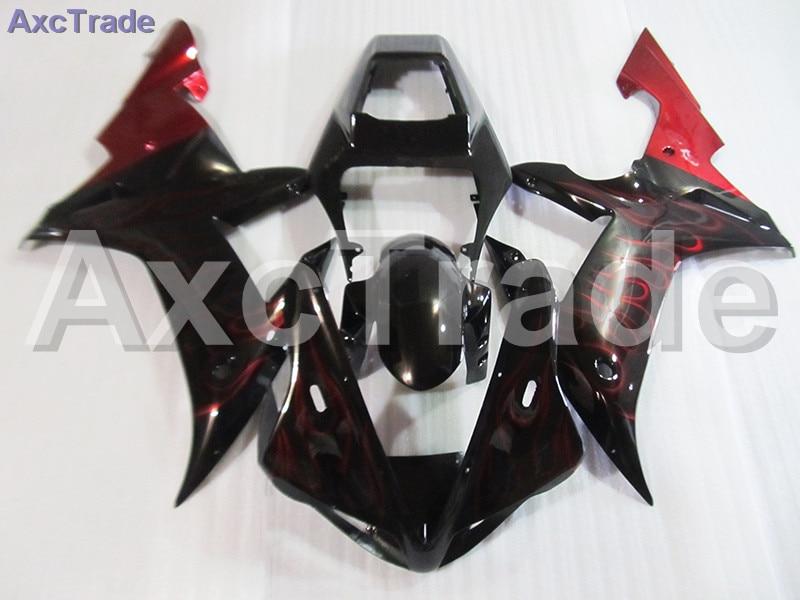 Moto Motorcycle Fairing Kit For Yamaha YZF1000 YZF 1000 R1 YZF-R1 2002 2003 02 03 ABS Plastic Fairings fairing-kit Red Black