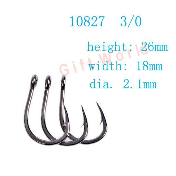 New 100 Stainless Steel Size 2 Fish Hooks Fishing Tackle
