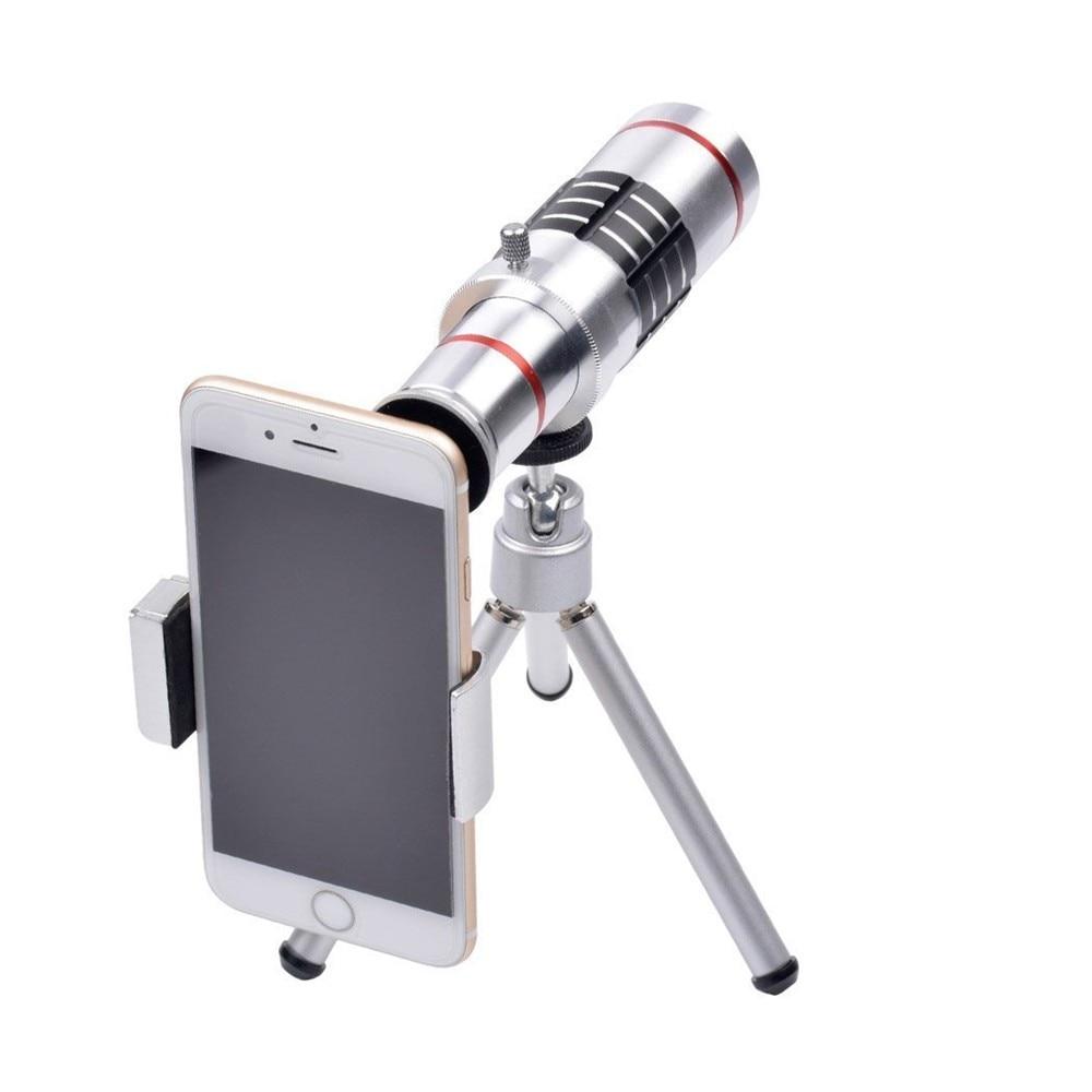KRY 18x lentes Universal Zoom Camera Phone Lens Optical Telescope Telephoto Lenses Tripod For iPhone 5s lens 6 6s 7 Plus Lens 4