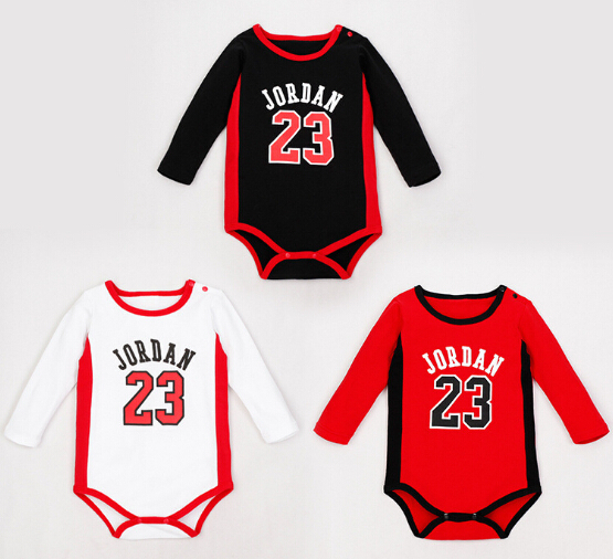 f6092a7c6 23 Jordan Bodysuits Baby Girl boys long sleeved jumpsuit 100% Cotton ...