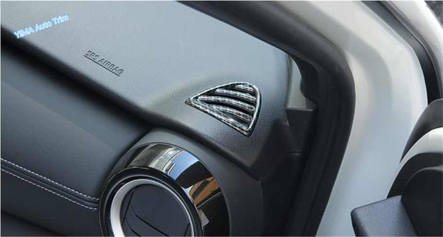 Carbon fiber style Side Air Vent Outlet Cover Trim for Nissan Kicks 2017-2018