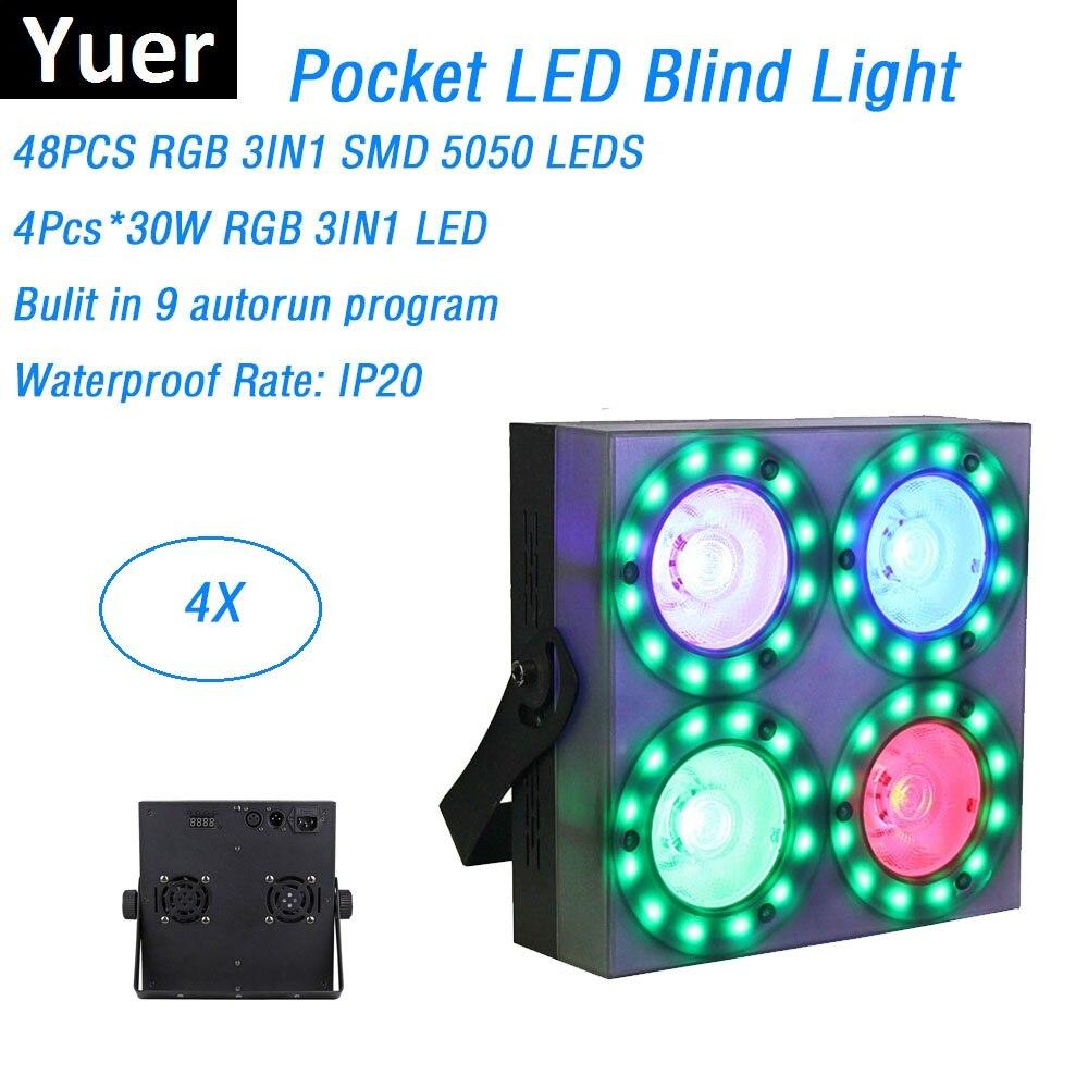 все цены на 4XLot LED Par Light COB 150W High Power LED Blind Light 4X30W RGB 3IN1 DJ Disco DMX Led Beam Wash Strobe Effect Stage Lighting онлайн