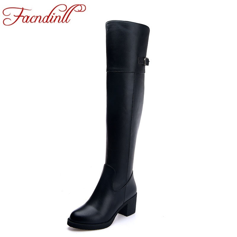 fashion women boots genuine leather +PU women shoes high heels winter warm ladies knee high boots casual shoes black snow boots allbitefo golden zip decorate fashion spring winter snow shoes genuine leather pu women boots casual knee high boots size 33 43
