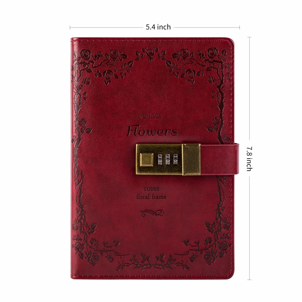 Diary With Lock Cagie Vintage Leather Journal Lock Diary Travelers Diary Lined Paper and Blank Paper Notebooks Sketchbook diary with lock cagie cute diary cloth cover a7 mini notebook lined pages paper notebooks personal journal beautiful notepad
