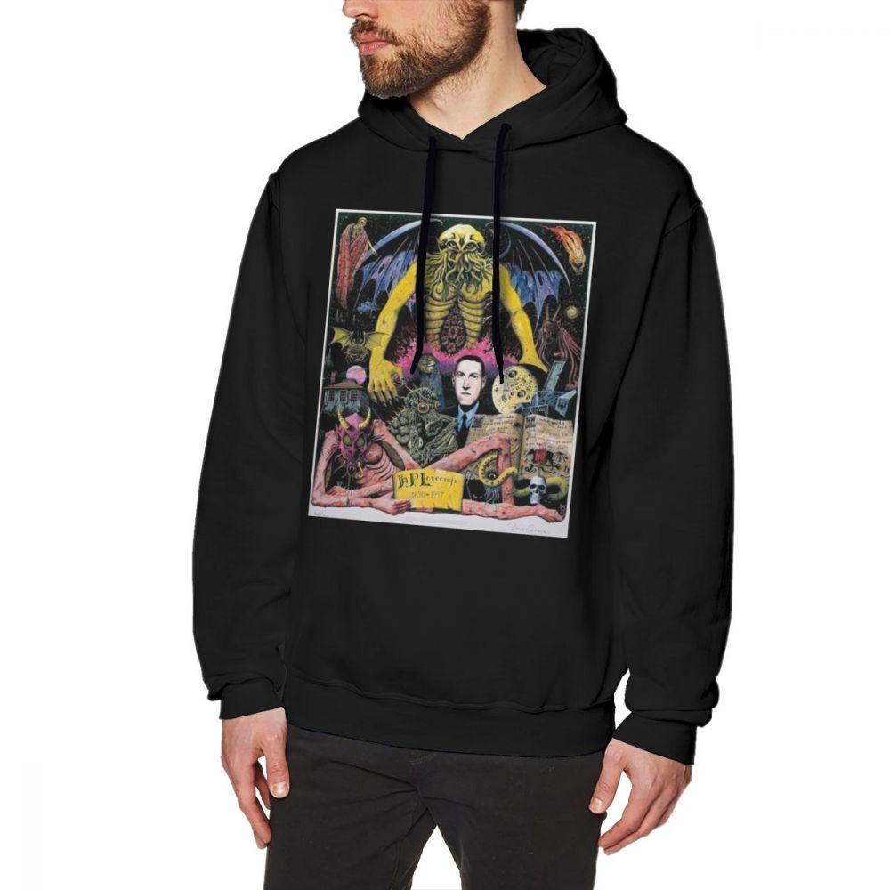 Lovecraft Hoodie Lovecraft Hoodies Grey Loose Pullover Hoodie Stylish Cotton Long Sleeve XXX Male Warm Hoodies hoodie