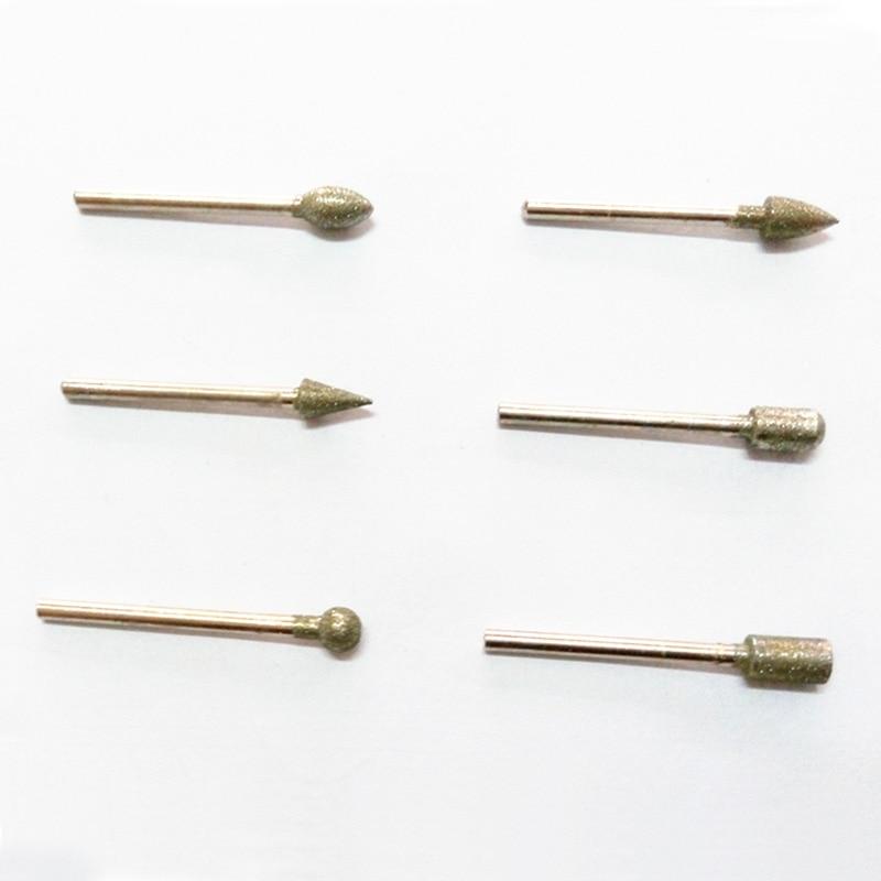 20 sztuk narzędzi diamentowych dremel diamentowe wiertła ścierne - Narzędzia ścierne - Zdjęcie 3
