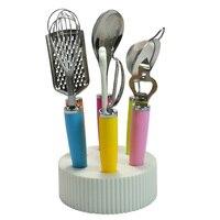 New Stainless Steel 7pcs Set Kitchen Cooking Tools Set Whisk Peeler Grater Colander Ladle Opener Turner