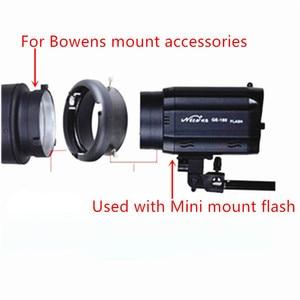 Image 3 - Speed Ring Adapter Voor Sluit Mini Mount Flash Om Bowens Mount Photogrpahy Accessoires Verwisselbare Mounts