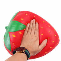 Extra squishy morango jumbo squishy lento crescente grandes squishes macio plutônio squish simulação frutas alívio anti stress crianças brinquedos