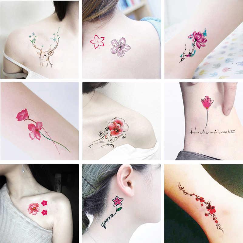 10pcs Set Temporary Tattoo Sticker Waterproof Flower Pattern Tatoo Tatouage Temporaire Femme Body Sticker Temporary Tattoos Aliexpress