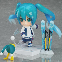 Action Anime model figure 570# snow miku Snow Owl Ver. 10cm collection toy Nendoroid figures doll gift with box