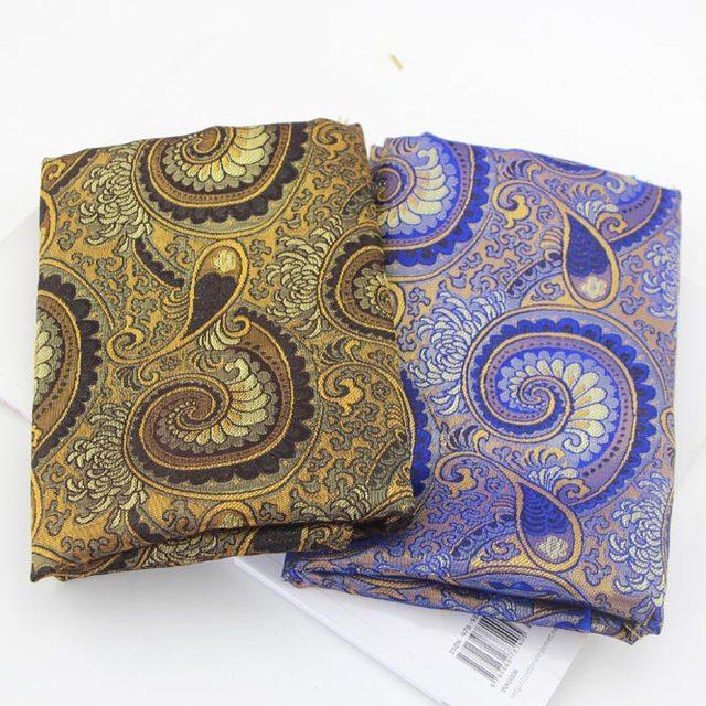 Online New 5 Design Emulation Silk Paisley Pattern Style Broade Fabric Handmade Cloth Art Diy Quilt Home Textile 50 75cm Aliexpress Mobile