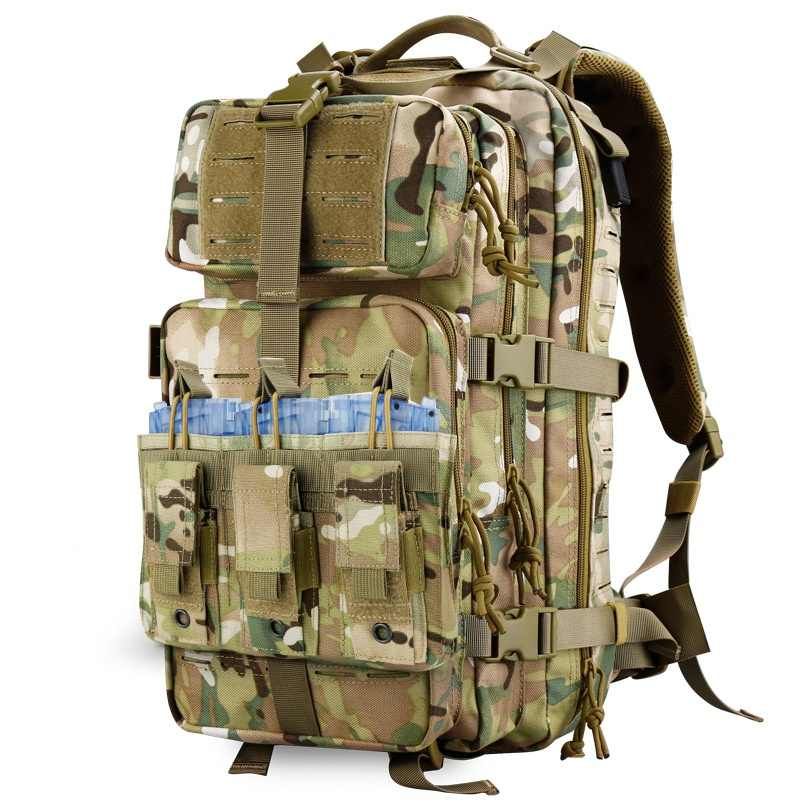 1000D Nylon Military Tactical Molle Triple Open-Top Magazine Pouch  Molle System Paintball Equipment Bag