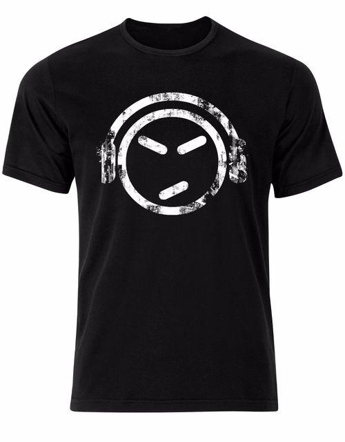 Angry Face Headphones Hipster Millennials Vintage Mens Tshirt Tee Top AL34