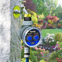 2szt Aqualin Ball Valve automatyczny elektroniczny licznik wody Home Garden nawadniania Controller system Timer podlewanie systemu 21025-2 tanie tanio Liczniki wody ogrodowe Analogowe Plastikowe