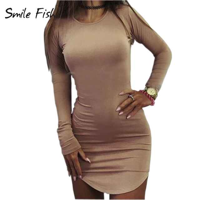 Plus Size Women Clothing 2019 Long Sleeve Mini Bodycon Tunic Slim Party Sexy Clubwear Side Split Tshirt Bandage Dresses M0462 1