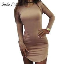ab59a70ab8a399 Plus Size Vrouwen Kleding 2018 Lange Mouwen Mini Bodycon Tuniek Slim Party  Sexy Clubwear Side Split Tshirt Bandage Jurken M0462