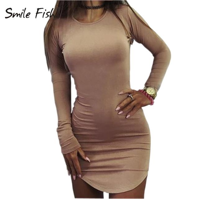 Plus Size Women Clothing 2018 Long Sleeve Mini Bodycon Tunic Slim Party Sexy Clubwear Side Split