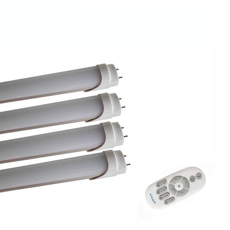 5X gros T8 LED tube 10 W 615mm CCT et luminosité dimmable avec 2.4G télécommande livraison gratuite