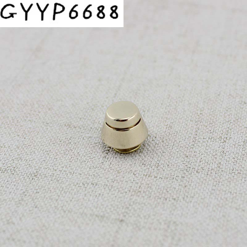 Copper 11mm Flat Spikes Metal Studs Rivets Screwback Spots Metal Hardware For Bags Button Metal Engraved Rivet Wholesale