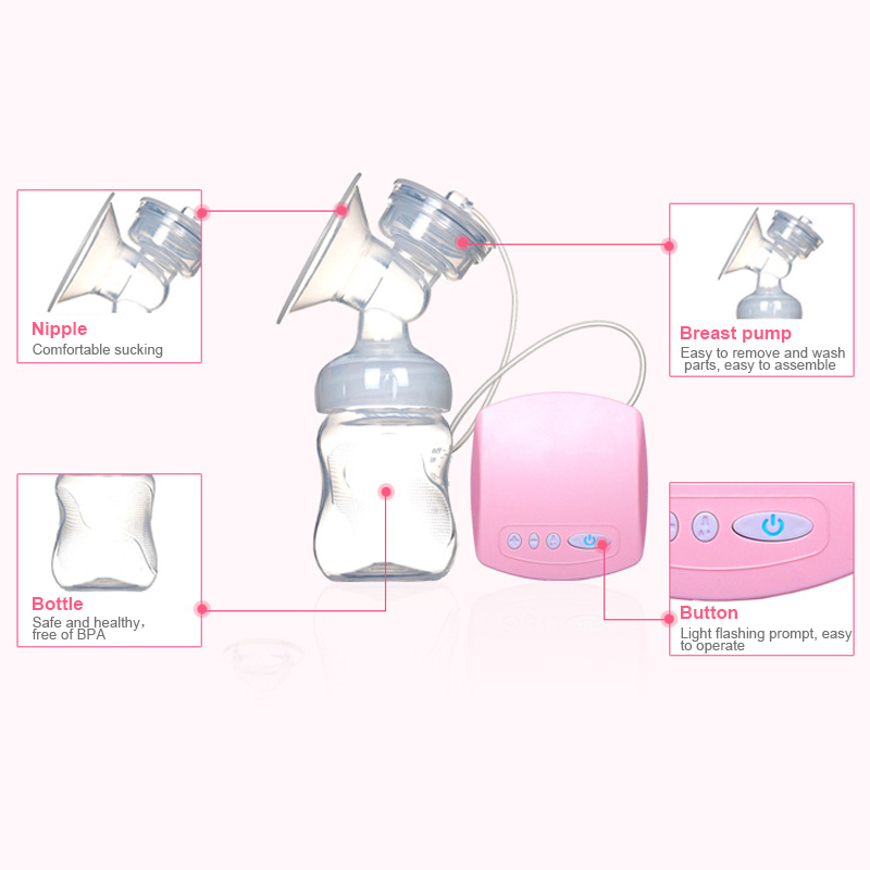 USB Chargeable Automatic Breast Pump with Milk Bottle Made with BPA free Material for Milk Feeding 4