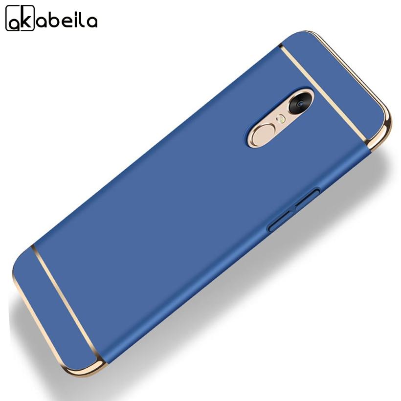 AKABEILA Plating Plastic Case For Xiaomi Redmi 5 Plus Case Back Cover Coque Funda for Redmi Note 5 5.99 inch Anti-Knock Etui