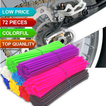 Universal Motorcycle Dirt Bike Wheel Rim Spoke Skins Covers Wrap Tubes Decor Protector FOR SUZUKI RMX250 RMX-450Z KTM Supermoto