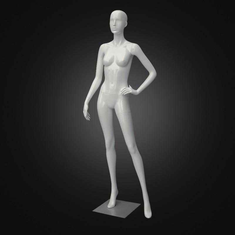 Mannequin réaliste pour femme, tête d'affichage FRP, forme de robe avec Base