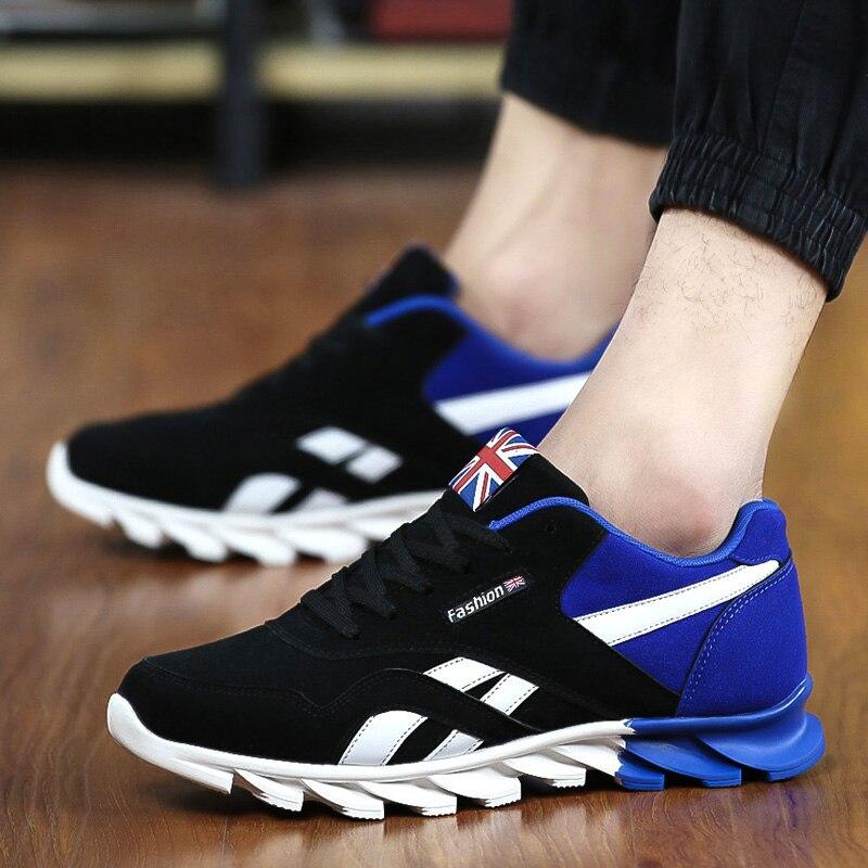 gris Zapatillas Hombres negro azul Beige claro Hombre Ocasionales gris Nuevos 2017 Zapatos Primavera Caminar Moda azul Oscuro Masculina Cielo Otoño Para oro marrón q1x0w