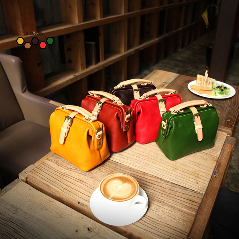 YIFANGZHE Fashion Genuine leather bags for women, Top Quality Vintage handbags shoulder/ crossbody/ handbag for Girls/Ladies