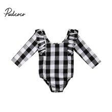 Marca bebê recém-nascido da menina do menino roupas definir infantil roupas casaco infantil bebes menino menina roupa Preta Xadrez O Pescoço Longo manga