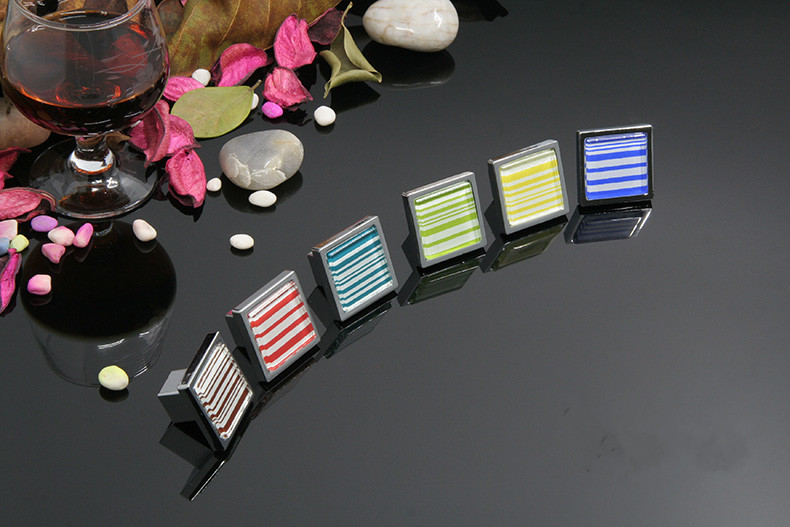 10PCS Handle Knob Modern Multicolor Square Zinc Alloy Chrome Plated 30*30*25MM диски helo he844 chrome plated r20