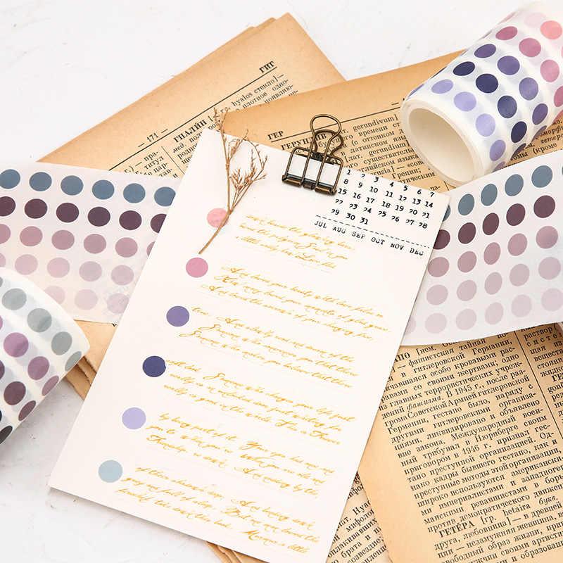 336 unids/lote cinta Washi de puntos coloridos papel japonés DIY planificador cinta adhesiva cintas adhesivas pegatinas decorativas papelería cintas