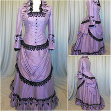 Victorian Corset Gothic/Civil War Southern Belle Ball Gown Dress Halloween dresses US 4-16 R-347