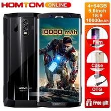 """HOMTOM HT70 10000mAh bateria 6.0 """"HD 18:9 ekran smartfona MTK6750T Octa Core 4G RAM 64G ROM 16MP + 5MP podwójna kamera 4G telefon komórkowy"""