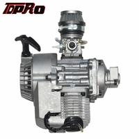 TDPRO Racing 47cc 49CC 50cc 2 Strokes Engine Motor Air Filter Pull Start Engines For Mini Kid ATV Dirt Pocket Bike Scooter Buggy