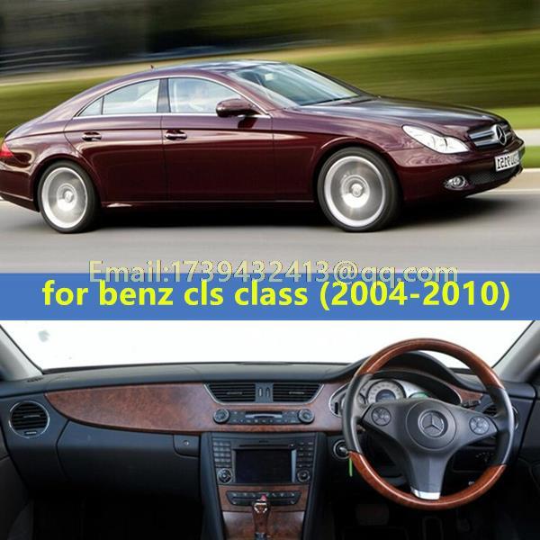 Accessoires de décoration de voiture dashmats couverture de tableau de bord pour mercedes-benz w219 cls 280 300 320 250 350 500 550 55 63amg 2004-2010 RHD