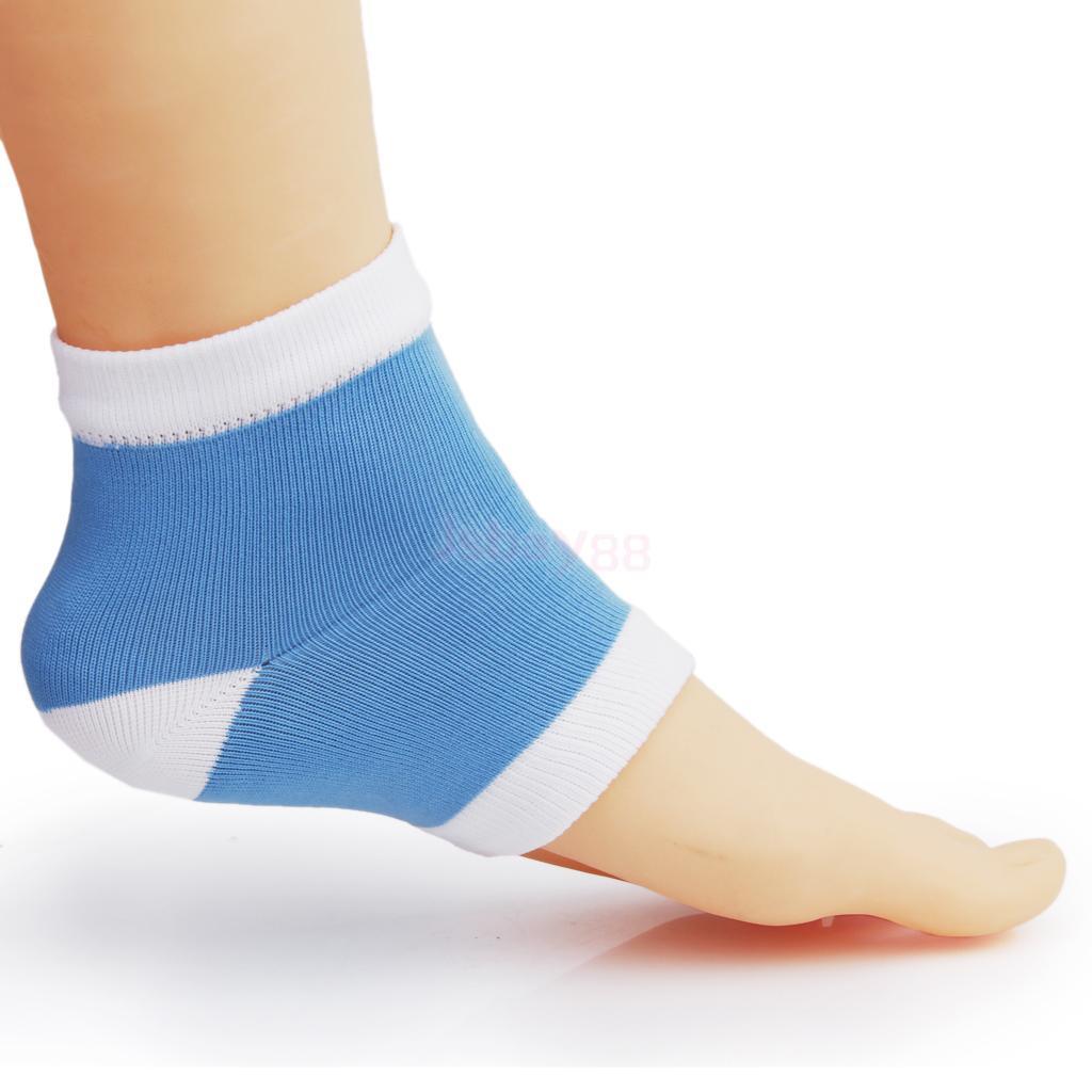 Brand New Footful Gel Heel Dry Hard Cracked Skin Moisturising Open Toe Socks Pain Relief