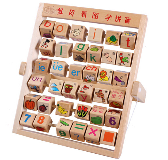 Children Baby Kids Montessori Educational Math Toys Learning Developmental Flap Abacus Wooden learning education toys W129 random delivery baby funny wooden toys developmental dancing standing rocking giraffe animal handcrafted toys