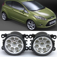 For FORD Fiesta VI Hatchback  2008-2015 Car-Styling Led Light-Emitting Diodes DRL Fog lamps 1set