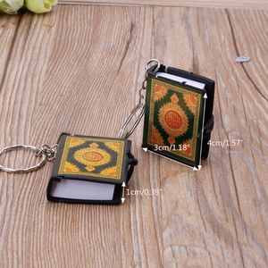 Image 3 - 1  PC Mini Ark Quran Book Real Paper Can Read Arabic The Koran Keychain Muslim Jewelry  Decoration  Gift