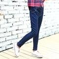 4 5 6 7 8 9 10 11 12 13 Anos calças de Brim meninas Outono calças de Brim Adolescentes Para As Meninas de Alta Qualidade Crianças Calças de Brim