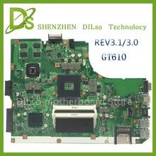 KEFU A55V für ASUS K55VD A55V mainboard REV3.1/3,0 motherboard Für ASUS K55VD A55V motherboard GT610 100% getestet