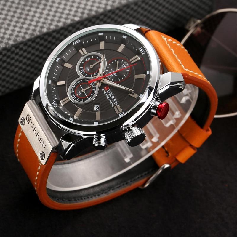 CURREN 8291 Luxury Brand Men Analog Digital Leather Sports Watches Men\`s Army Watch Man Quartz Clock Relogio Masculino drop shipping wholesale cheap 2019 (4