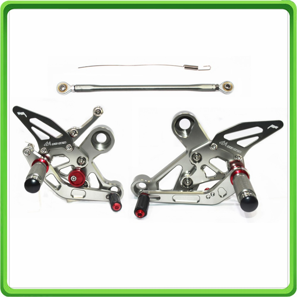 CNC Adjustable Rear Sets Rearset Footrest Foot Rest Pegs fit for Yamaha FZ 09 MT 09 FZ09 MT09 2013 2014 2015 2016 2017 Gray