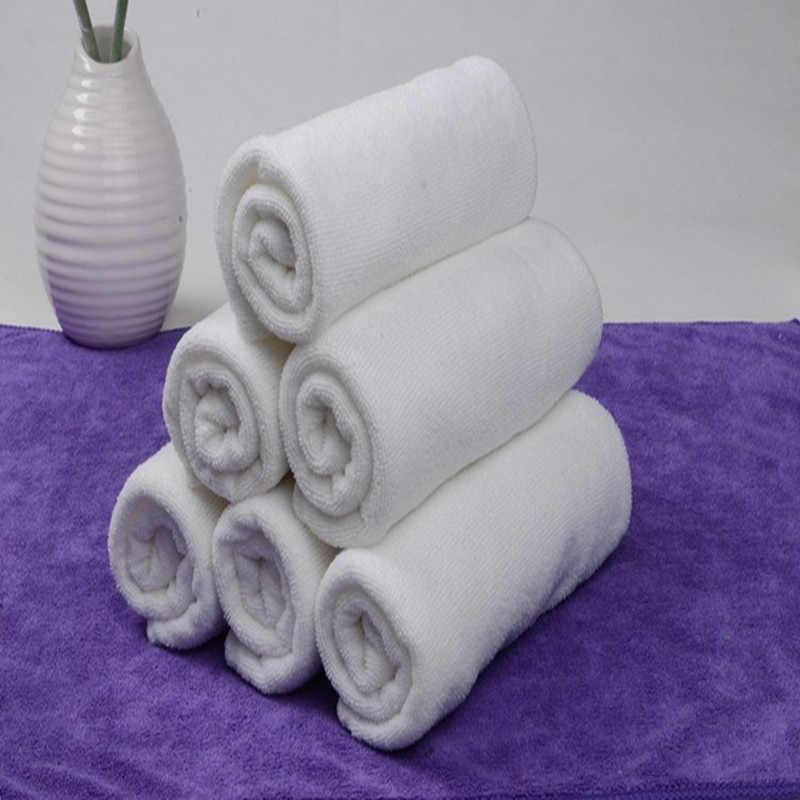 لينة منشفة بيضاء المحمولة تيري منشفة فندق حمام مناشف اليد المناشف الرئيسية اليومية الأساسية غسل منشفة استحمام عالية الجودة