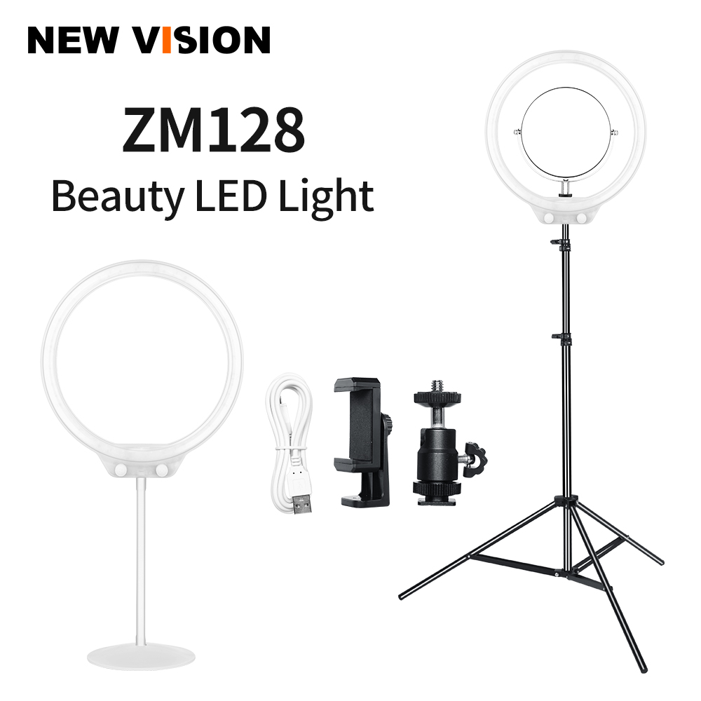 LED Ring Light 3200K 5500K Phone Camera Studio Phone Video Ring Light with 190cm Light Stand