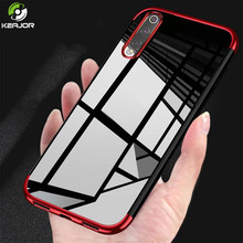 Keajor TPU Case For Xiaomi Mi 9 Transparent Plating Bumper Soft Silicone Protective Back Cover Mi9 SE Funda