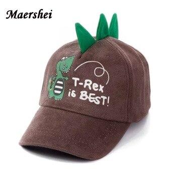 50de98272 MAERSHEI niños Snapback gorra de béisbol para niño chica sombrero Otoño  Invierno de dibujos animados negro hueso niños sombrero
