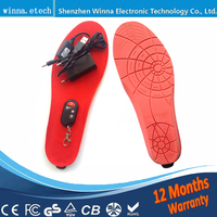 NEW Insoles Heated Battery Women Shoes Insoles Winter Thick Insole Warm Insoles Keep Foot Warm 1800MAH